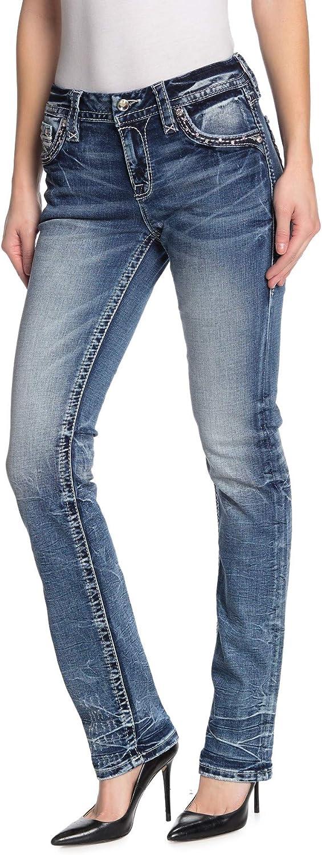 Rock Revival - Womens Easy Straight Leg Jeans IRI