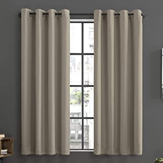 Sun Zero Soho 2-Pack Energy Efficient Blackout Grommet Curtain Panel Pair, 54