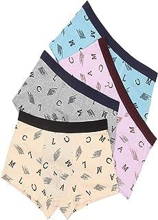 4-Pack Men's Boxer Underwear 100% Cotton Premium Quality Boy's Woven Cotton Elastic