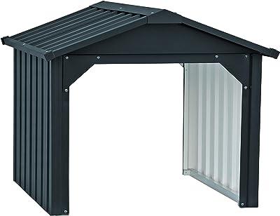 Hoggar by Okoru Caseta metálica Verde/Beige para Almacenamiento 4, 72 m2 261x301x198cm. Cobertizo Jardin: Amazon.es: Jardín