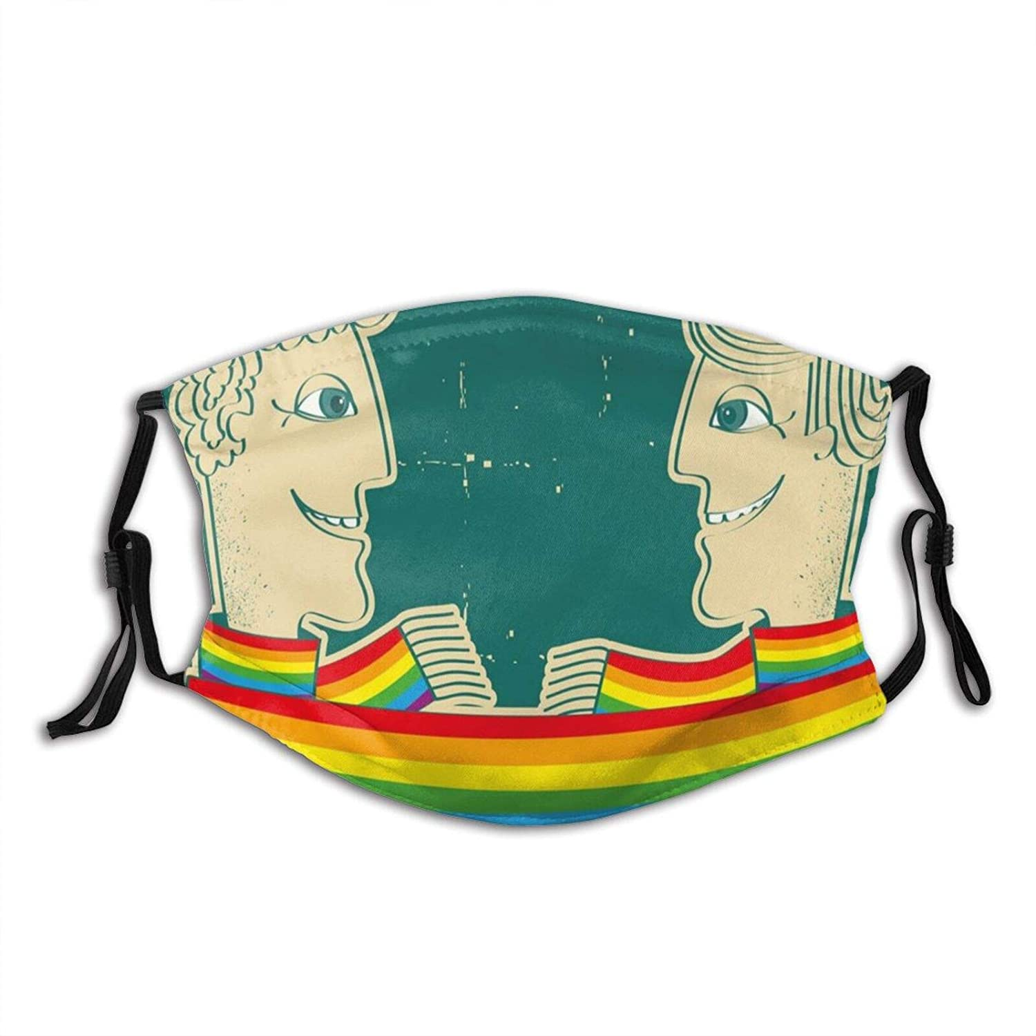 Fashionable Sales for sale Comfortable Windproof mask,Happy Gay With Tied Couple Rainb