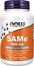 NOW Supplements, SAMe (S-Adenosyl-L-Methionine)200 mg, Nervous System Support*, 120 Veg Capsules