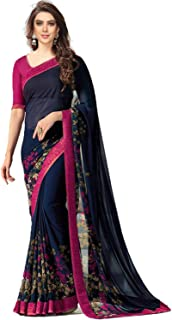 TRYme Fashion Saree With Blouse Piece