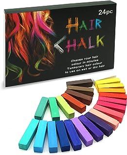 SYOSIN Tiza para el cabello, 24 colores temporales para el