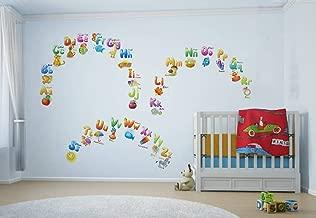 Rawpockets 'English Alphabets for Education' Wall Sticker (PVC Vinyl, 1 cm x 90 cm x 105 cm, Multicolour)