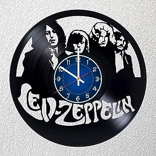 LED Zeppelin Rock Band 12 inches / 30 cm Vinyl Record Wall Clock | Fan Gift | Music Clock | Children's Room Decor Idea Home Art Party | Jimmy Page, John Bonham, Robert Plant, John Paul Jones