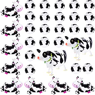 40 Pieces Funny Cow Balloons Farm Animal Latex Balloons, Black and White Balloons with 3 Sizes, Great for Birthday Party Cow Theme Party Decoration