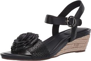 Taryn Rose womens HENRIETTE Ankle Strap black, 6.5