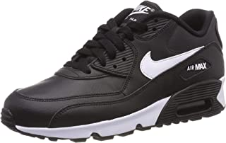 Nike Air Max 90 Leather Black/White-Anthracite (GS)