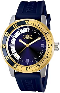Invicta Men s 12847 Specialty Stainless Steel Watch with Blue Band 802b4771a60