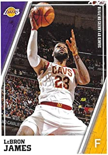 2018-19 Panini NBA Stickers Collection #275 LeBron James Los Angeles Lakers Official Basketball Sticker (2 in x 2.75 in)