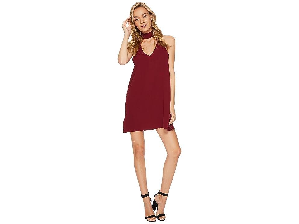 Show Me Your Mumu Friday Choker Dress (Burgundy Pebble) Women