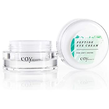 Under Eye Cream – Anti Aging Peptide Eye Serum for Men and Women - Reduces Under Eye Bags, Dark Circles and Puffy Eyes, Unscented - Coy Beauty