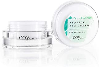Peptide Eye Cream, Daily Hydrating for Anti-Aging & Reducing Bags, Dark Circles, and Puffy Eyes - by Coy Beauty