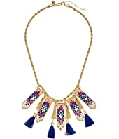 Rebecca Minkoff - Catalina Seed Bead Statement Bib Necklace
