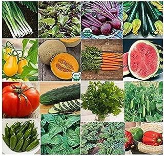 David's Garden Seeds Collection Set Vegetable Garden P974HH (Multi) 16 Varieties 3500 Seeds (Non-GMO, Open Pollinated, Heirloom, Organic)