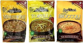 Shore Lunch Soup Mix 3 Flavor Variety Bundle, (1) Each: Minestrone, Tortilla, and Cheddar Broccoli, 9-11 Oz. Ea.