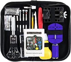 Vastar 147 PCS Watch Repair Kit Professional Spring Bar Tool Set, Watch Band Link Pin Tool Set with Carrying Case