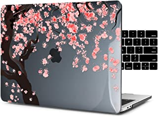 Dongke New MacBook Pro 15 Inch Case 2019 2018 2017 2016 Release A1990 A1707, Hard Case Shell Cover for MacBook Pro 15 with Touch Bar & Retina Display - Cherry Blossoms