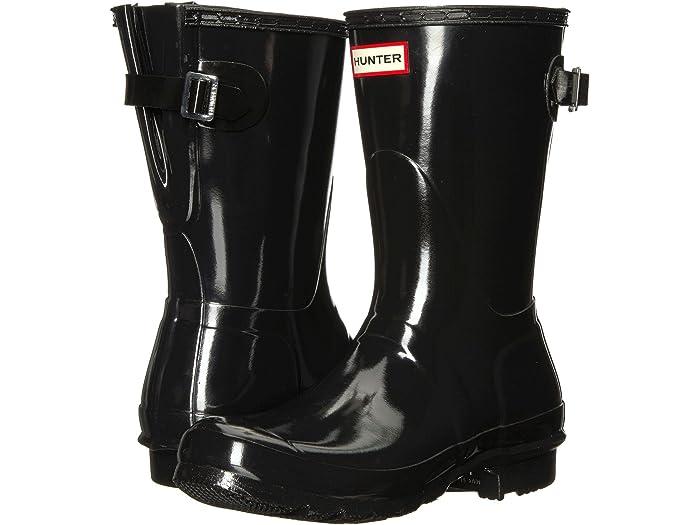 Back Adjustable Short Gloss Rain Boots