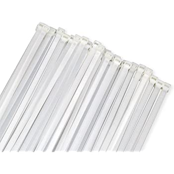 Wide Large 120LBS Tensile 12 Inch Heavy Duty White Industrial Durable Cable Ties Garden Ties 50 Pack