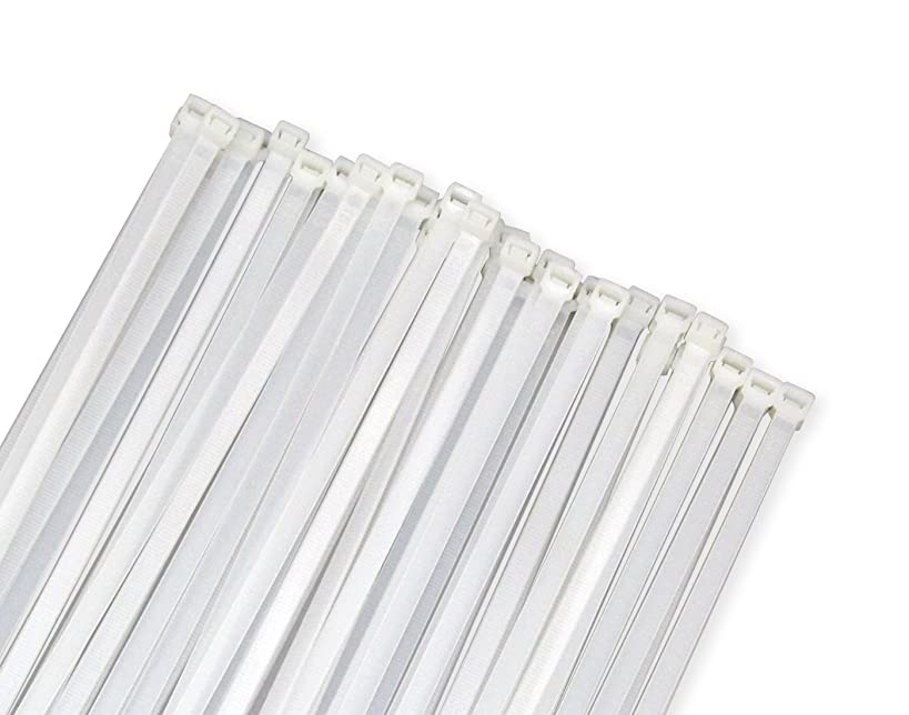 Wide Large 120LBS Tensile 12 Inch Heavy Duty White Industrial Durable Cable Ties 50 Pack