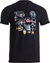 Beer Brewing Schematic | Home Brewer, Homebrew Production Chart Unisex T-Shirt