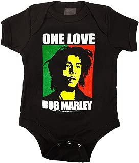 Bob Marley One Love Color Block Infant Baby Romper T-Shirt