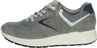 Imac, Scarpe Uomo Sneaker in Pelle Camoscio Grigio, Pianta Comoda, Sottopiede Estraibile, 503010