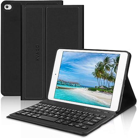 Kvago - Funda con teclado Bluetooth para iPad Mini de 7,9 pulgadas, teclado con función atril para iPad Mini 1/2/3/4/5, teclado magnético desmontable ...