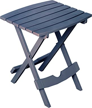 Adams Manufacturing 8500-94-3901 Plastic Quik-Fold Side Table, Bluestone