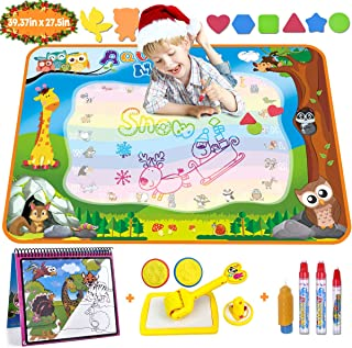 Aqua Magic Doodle Mat Large Water Drawing Mat for Kids Gifts Educational Toy Toddler Painting Board with Water Coloring Bo...