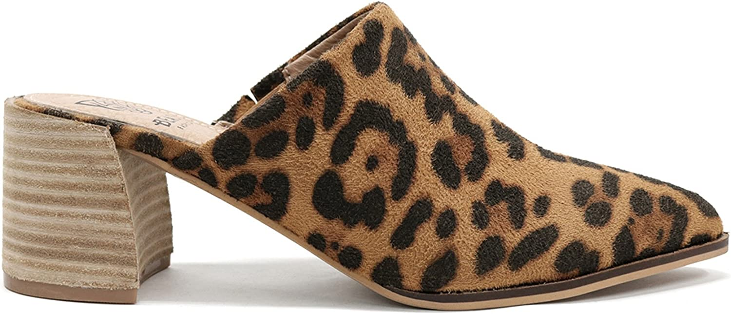 Beast Fashion Stephanie-01 Suede Slide Sanda Mule Heel On Chunky OFFicial mail order Max 79% OFF