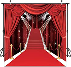 Red Carpet Vinyl Photography Backdrop CYLYH 8x8ft Birthday Wedding Photography Backgrounds Party Decorations Backdrops for Pictures D105