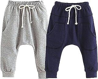 SYCLZ Baby Boys Girls Pants Cartoon Animal Pattern Casual Harem Pants Spring Autumn 3M-24M