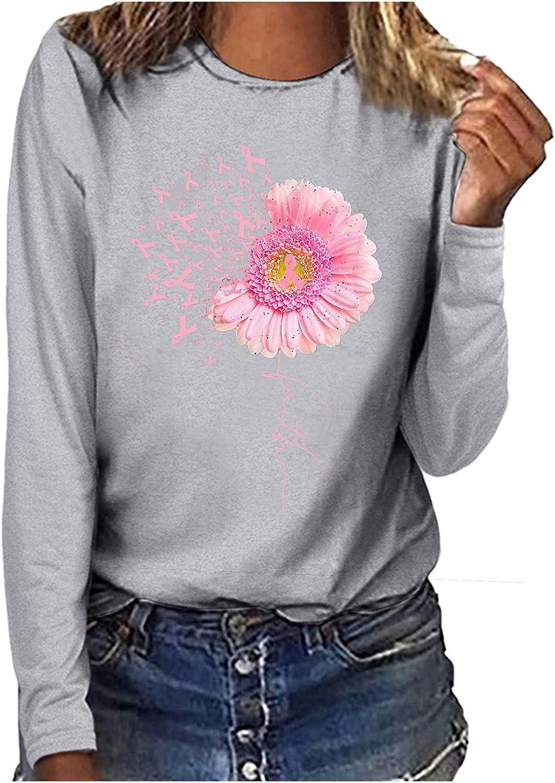 SEQUINS Pink Ribbon Bottom Print Ladies Breast Cancer Awareness Tri Blend Long Sleeve Hoodie Shirt SEQUINS-BP-DM139L