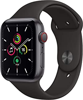 New Apple Watch SE (GPS + Cellular, 44mm) - Space Grey Aluminium Case with Black Sport Band
