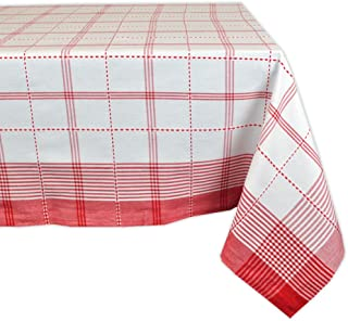 """DII CAMZ34781 Country Plaid Square Tablecloth, 100% Cotton with 1/2"""" Hem (60x104"""" - Seats 8 to 10)"""
