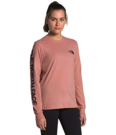 The North Face Brand Proud Long Sleeve Tee (Pink Clay/TNF Black) Women