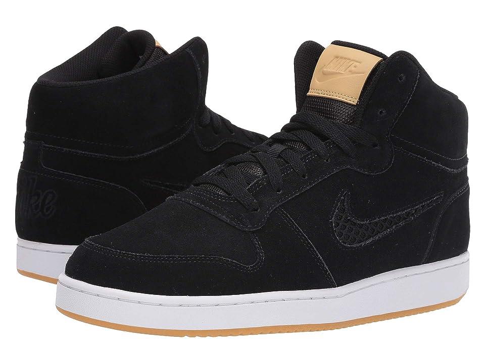 Nike Ebernon Mid Premium (Black/Club Gold/White/Gum Light Brown) Men