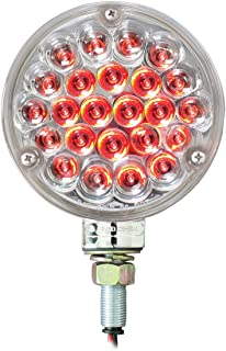Grand General 78356 4 Single Faced Red Pearl 24 LED Sealed Pedestal Light with Clear Lens