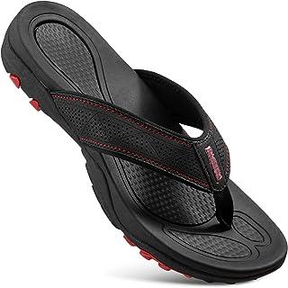 HAOLIRA Men's Surfing Flip-Flop Sandals,Mens Flip Flops Sport Beach,Men's Sandals Orthotic Arch Support Flip,Outdoor Holid...
