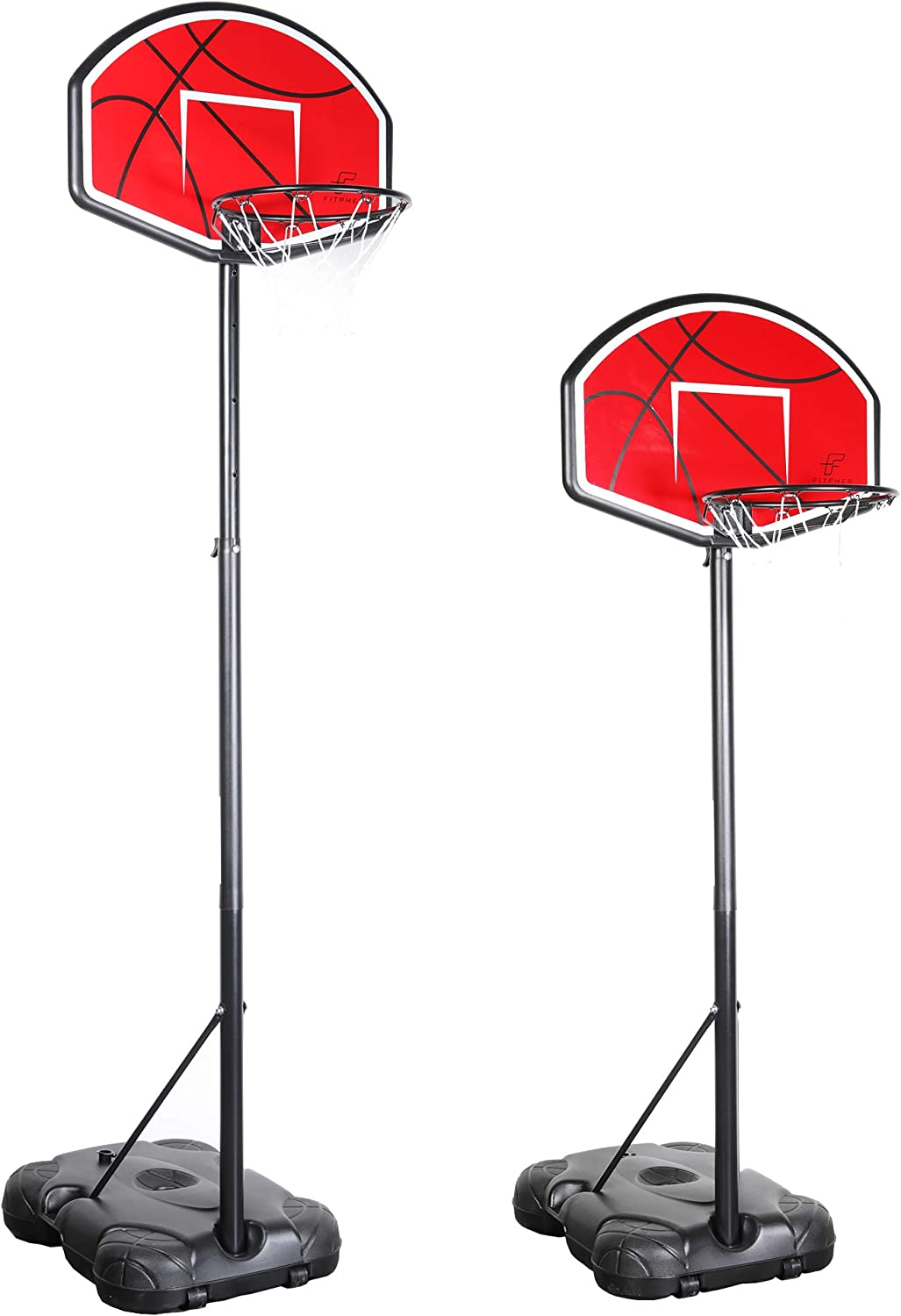 FITPHER Portable A surprise price is realized Basketball Hoop S Height Long-awaited Adjustable