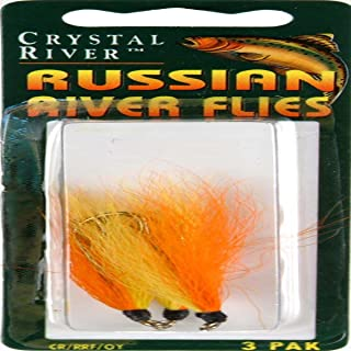 Crystal River CR/RRF/OY Russian River Fly Org/Yell 3Pk
