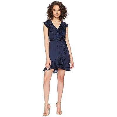 Bardot Layered Frill Dress (Navy) Women