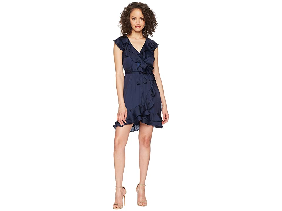 Bardot Layered Frill Dress (Navy) Women