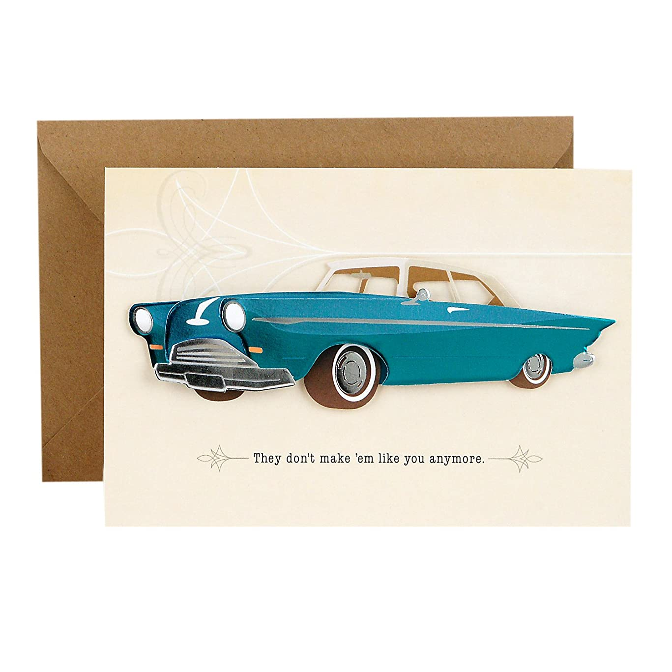 Hallmark Signature Father's Day Card (Vintage Classic Car, Don't Make 'Em Like You Anymore)