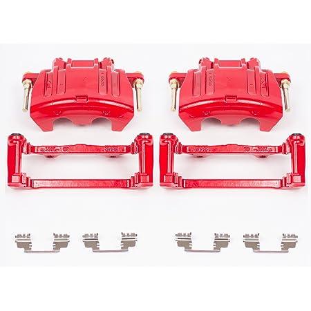 REAR Performance Grade Red Powder Coated Semi-Loaded Caliper Assembly Pair Set 2 Callahan CCK12464