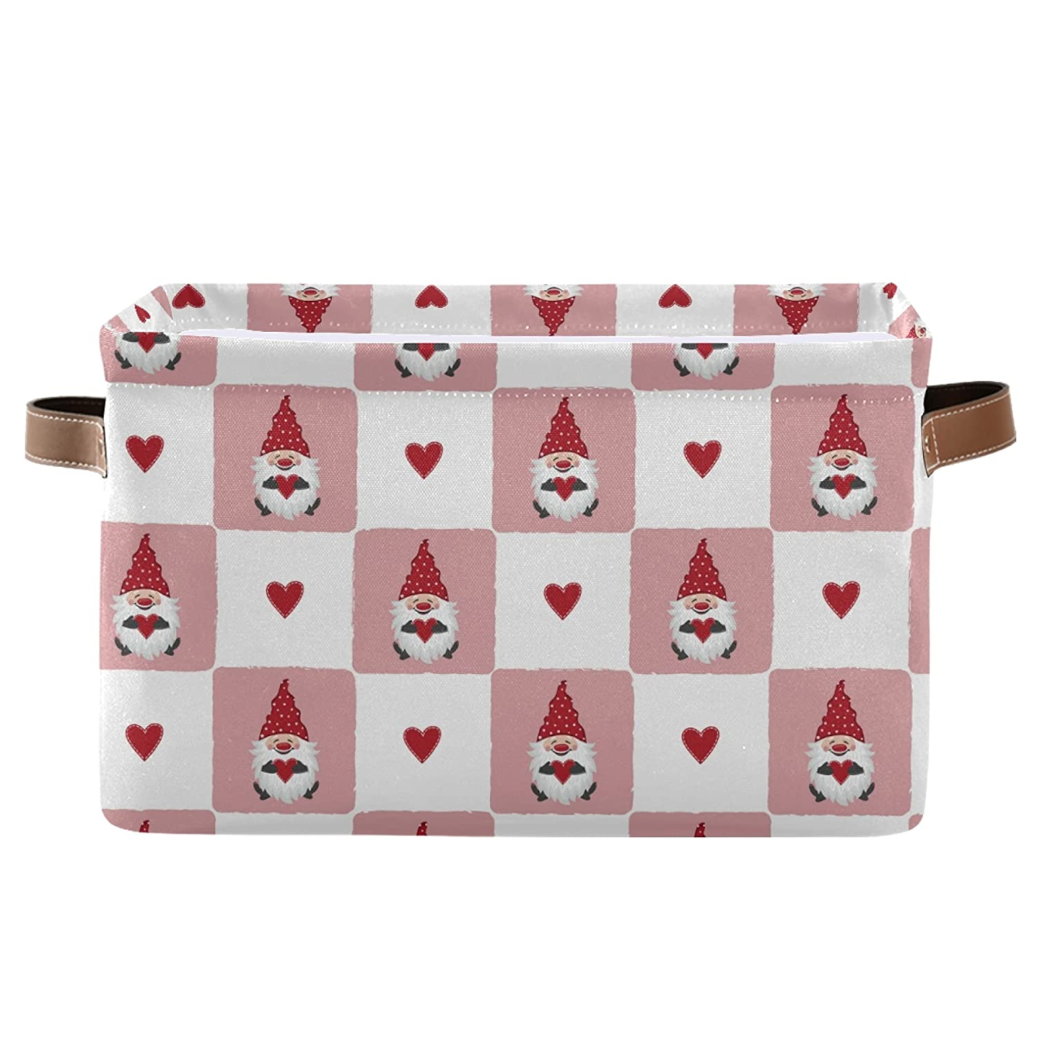 Valentines Day shopping Cute Gnomes Free shipping and Red Storage 2 Hearts Square Pack