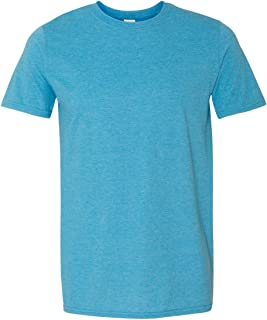 Men's Heavy Taped Neck Comfort Jersey T-Shirt, Light Pink